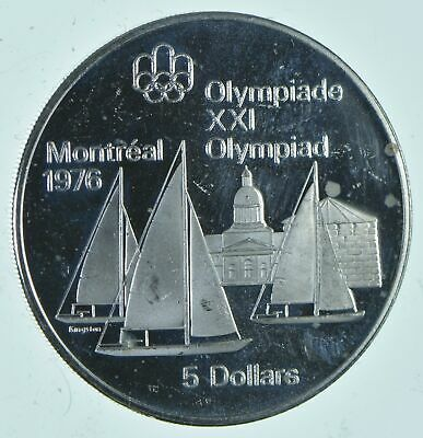 1976 $5 Silver Olympic Medal Montreal Olympic Games .722 T Oz ASW Sterling *792
