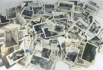 Over 400 Old Photos Lot BW Vintage Photographs Snapshots Black White antique vtg
