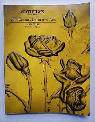 Sotheby's 20th Century Decorative Arts Sale 6404 Auction Catalog Book May 1993