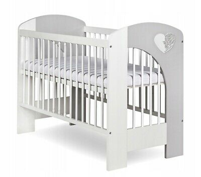New Wooden Baby Cot, Mattress To Choose!! Very High Quality, Heart