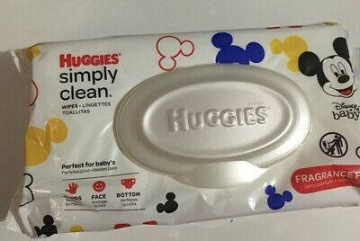 HUGGIES Simply Clean Baby wipes 64 Sheets Pack NEW Bath supplies