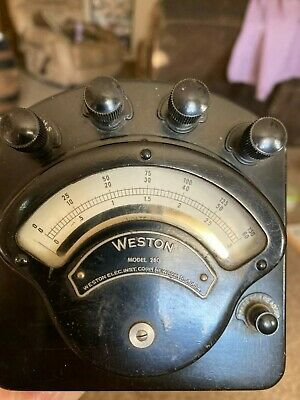 Weston Electrical Instruments DC Voltmeter Model 280