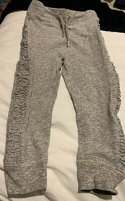 Next Girls Grey Ruched Side Oanel Jogging Pants Joggers, Age 6 Years