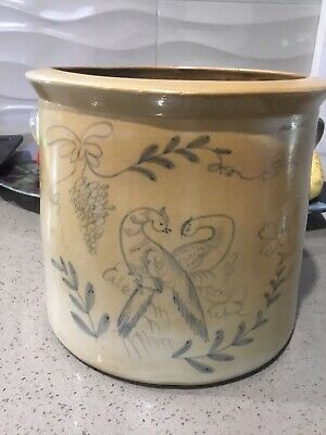 Antique? Vintage? Very Old Pot With Hand Drawn Peacocks