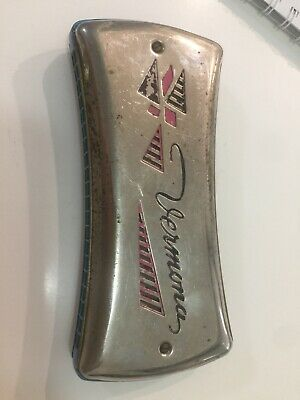Vintage Harmonica Vermona Double made in Germany. Working order. Hard to find.