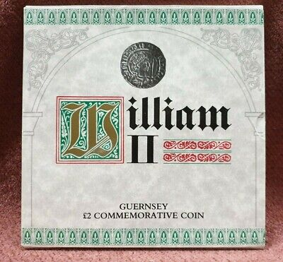 Guernsey 2 Pound Commemorative Coin William Ii Royal Mint