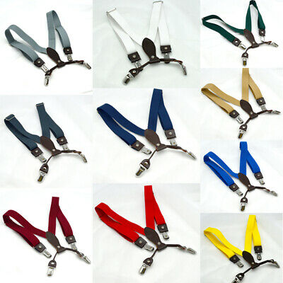 Children Kids Boys Wedding Party Suspenders Elastic Adjustable Clip On Braces