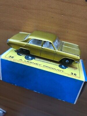 Vintage Matchbox Lesney Series No. 36 Made In England Opel Diplomat Yellow