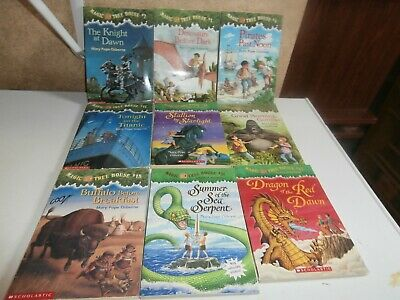 Magic Tree House By Mary Pope Osbourne-9 Paperback Books