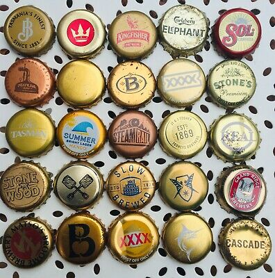 25 x GOLD Mixed Crown Seal Bottle Tops Caps