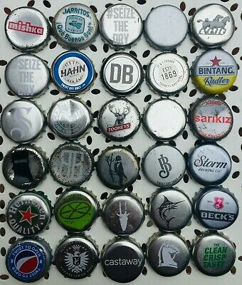 30 x SILVER Mixed Crown Seal Bottle Tops Caps