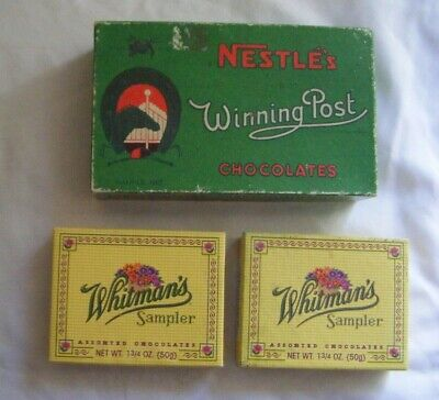 Vintage Nestle's Winning Post Chocolate box and Whitmans chocolate boxes.