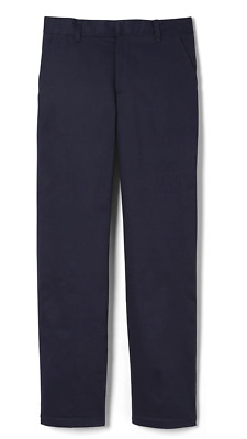French Toast Uniform Boy's Adjustable Waist Double Knee Pants 16 Navy Brand New