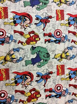 Super heroes Avengers Marvel 100% cotton Fabric