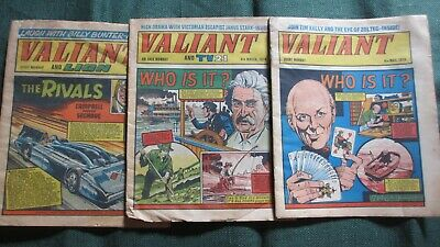 1974/1975 Valiant Comic Anthology Three Magazines Who Is It ? X 2 And The Rivals
