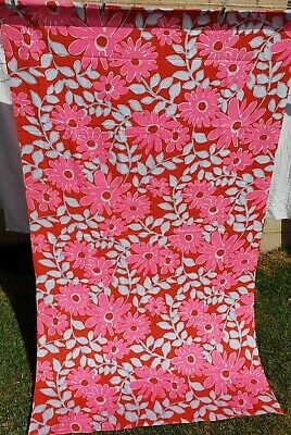 Vintage Fabric Colourful Flowers