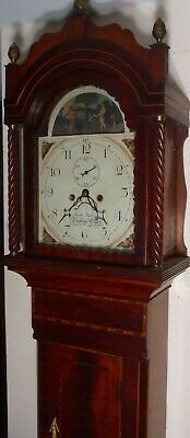 "Antique Mahogany Adam & Eve "" Shepton Mallet""  Longcase / Grandfather  Clock"