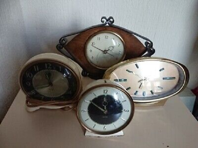 VINTAGE, RETRO ,ART DECO CLOCKS , JOB LOT of 4,smiths ,westclox and other