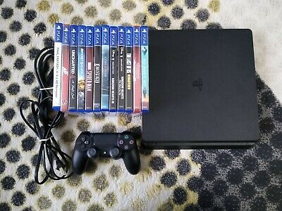 SONY PLAYSTATION 4 Slim 500GB CONSOLE PS4 BUNDLE with 12 GAMES INCLUDED!