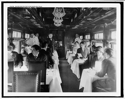 1915 Photo of Dining car on a deluxe overland limited train