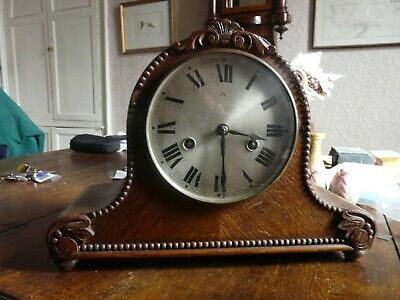 Antique / vintage HAC chiming oak finished mantle clock