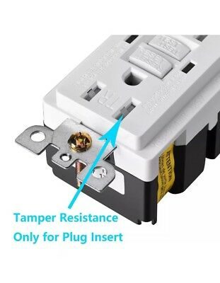 (50pcs)GFCI Receptacle Outlet w Wallplate White Self-Test Safety 20 Amp UL 2015
