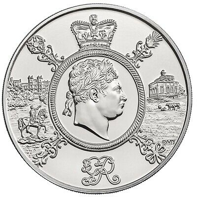 New 2020 King George Iii Third £5 Five Pound Coin Brilliant Uncirculated Bunc Bu