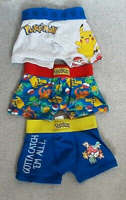 Official Pokémon Boys Boxers x 3 from Next