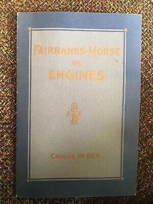 1914 Fairbanks Morse Oil Engines Catalog No. 80-H REPRINT, Hit Miss, Tractor