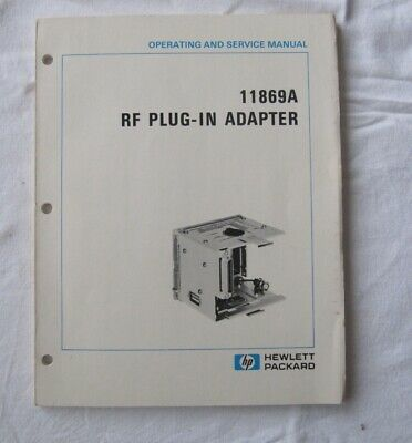 Operations und Service Manual HP 11869A RF PLUG-IN Adapter