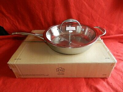 Princess House Heritage Tri-Ply Stainless Steel 8″ Skillet (5714) New W Box!!