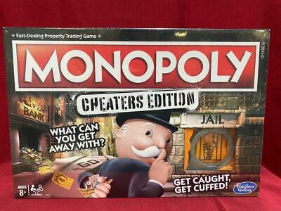 Hasbro Monopoly Game: Cheaters Edition Board game Updated E1871 SEALED