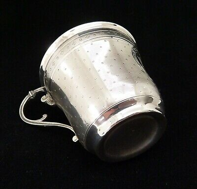 Tasse A Cafe Argent Massif Minerve Antique French Silver Coffee Cup