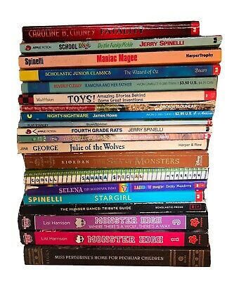 Lot 20 Chapter Books Mixed Children's Girls Boys Middle School Elementary AR