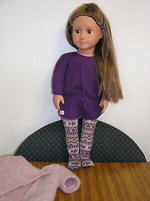 """18"""" Our Generation Doll By Battat In Original Clothes - Excellent Condition"""