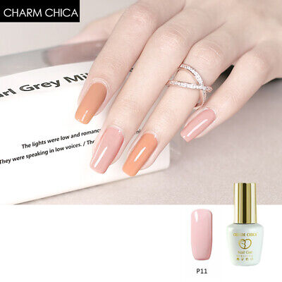 CHARM CHICA Elegant Pink Color Gel SoakOff UV Gel Nail Polish Varnish Nail Art