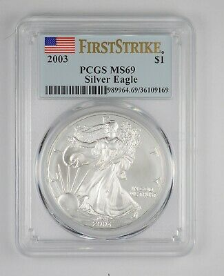 MS69 2003 American Silver Eagle - First Strike - Graded PCGS *101