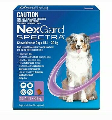 NexGuard Spectra Chewables For Dogs Purple 6 Pack for Flea, Tick and Heartworm