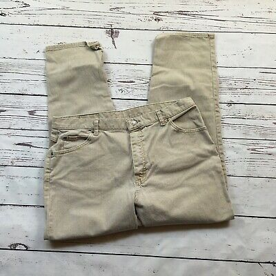 Womens Riders by Lee Stretch Jeans Tan Size 18 P 36X28 High rise Petite