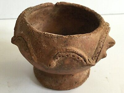 Ancient Egyptian Snake Turtle Pottery Pot - Authentic Ancient