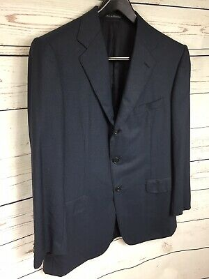 Ermenegildo Zegna Neiman Marcus Mens Navy Blue Wool Suit Jacket Sports Coat