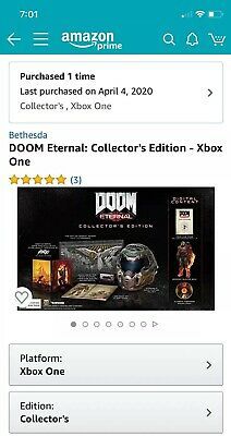 Doom Eternal Collectors Edition Xbox One