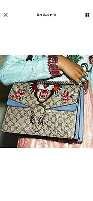 Authentic Gucci Dionysus Bag Embellished GG Coated Canvas Medium