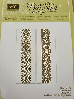 Stampin' Up Delicate Designs lace look Textured Impression Embossing Folders