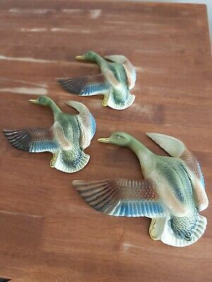 Flying Ducks (x3) Vintage Wall Australian.