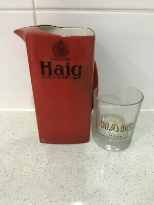 Haig's scotch whisky collectables jug & glass