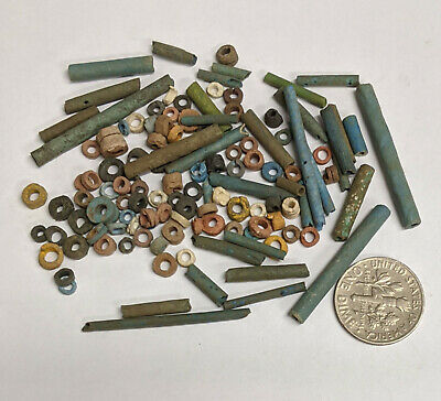 More than a Hundred 2500 Year old Ancient Egyptian Faience Mummy Beads (#L2988)