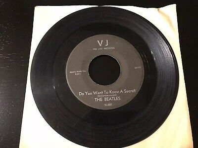 The Beatles Do You Want To Know A Secret/ Thank You Girl 45 Rpm On Vj Records