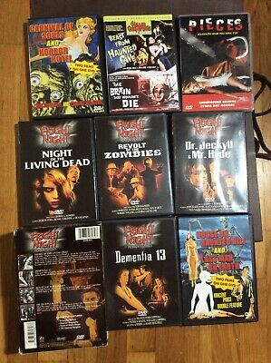 Pieces Dr Jeckell Hyde Haunted Hill Living Dead Zombies Horror 8 movie DVD lot