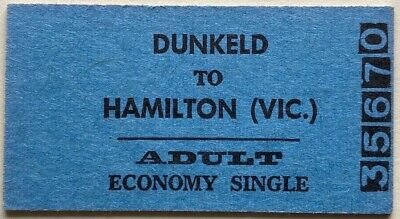 VR Ticket - DUNKELD to HAMILTON (Vic.) - Adult Economy Single